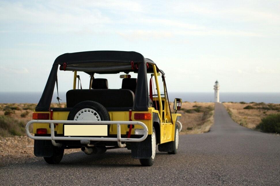 Alquiler Mini Moke Formentera